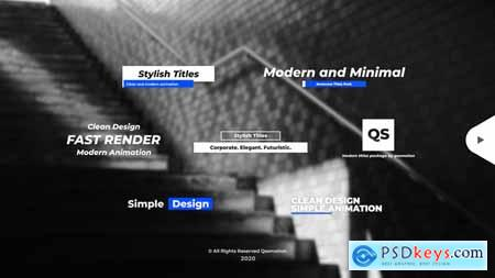 Stylish and Minimal Titles Pack For After Effects 28448310