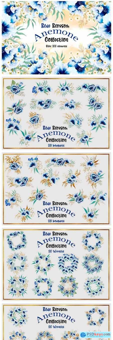 Blue Blossom Anemone Collection 4738966