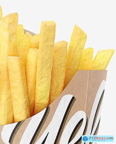 Kraft Paper Small Size French Fries Packaging mockup 66704