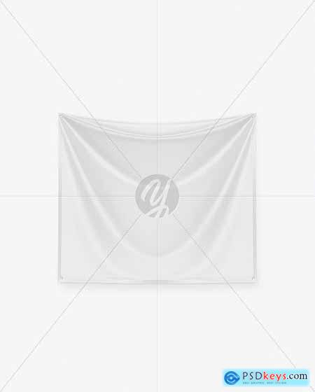 Textile Fabric Banner Mockup 66844