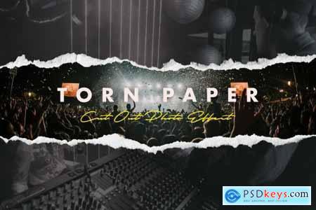 Torn Paper Cutout Photo Effect 5375654