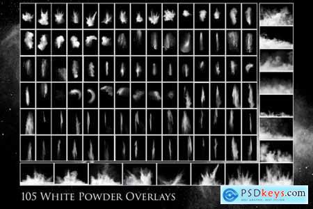 105 White powder overlays 4950520