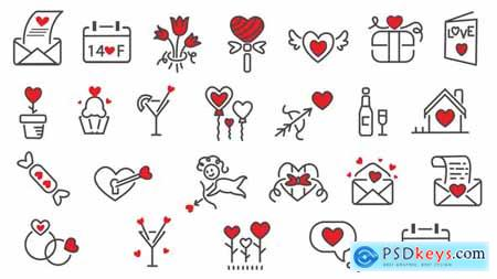 Love Icons Pack 24 in 1 23220162