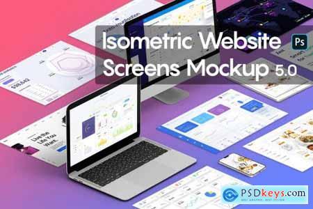 Isometric Website Screens Mockup 5.0 5301240