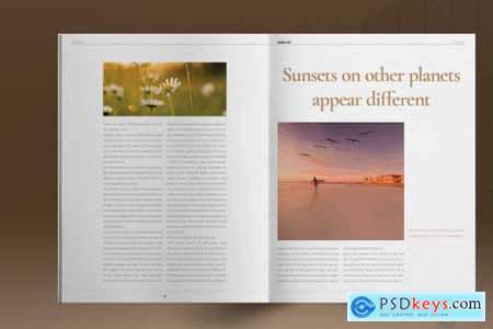 Gold Magazine Layout 5297507