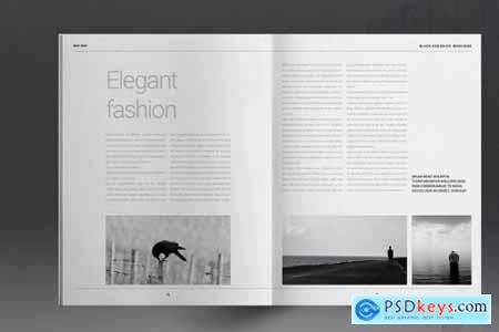 Black and White Lifestyle Brochure 5297328