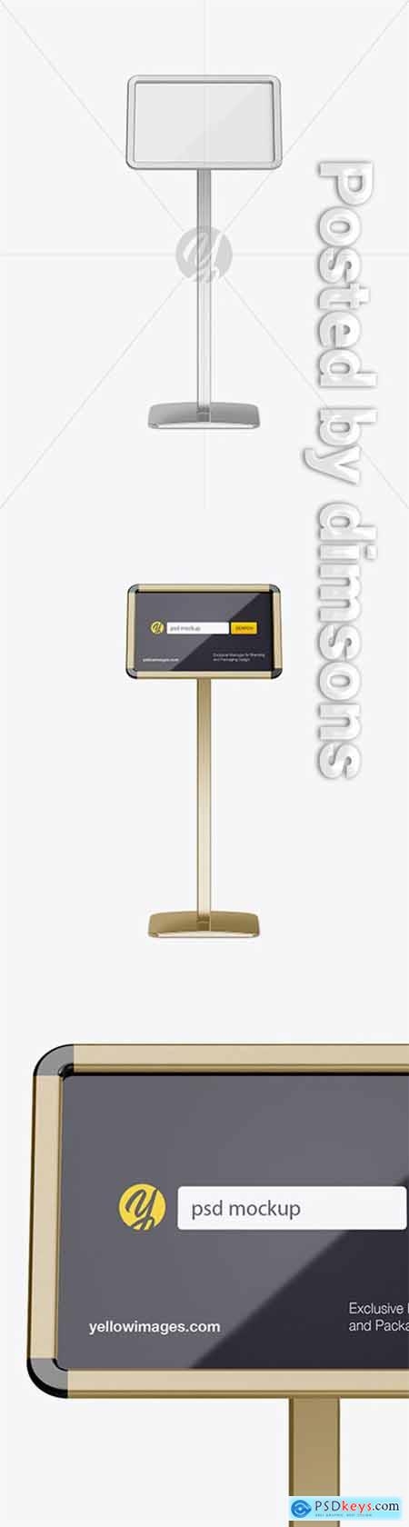 Metallic Frame Poster Stand Mockup - Front View 21149