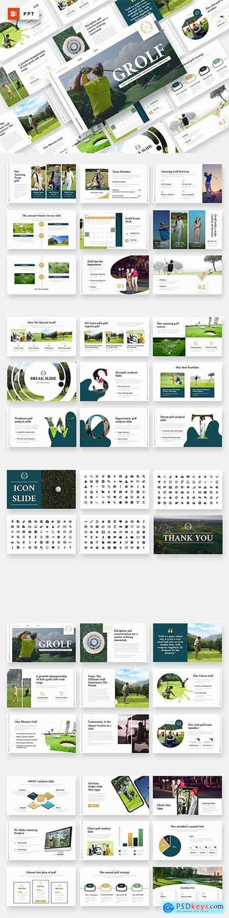 GROLF - Golf Club & Sport Powerpoint Template