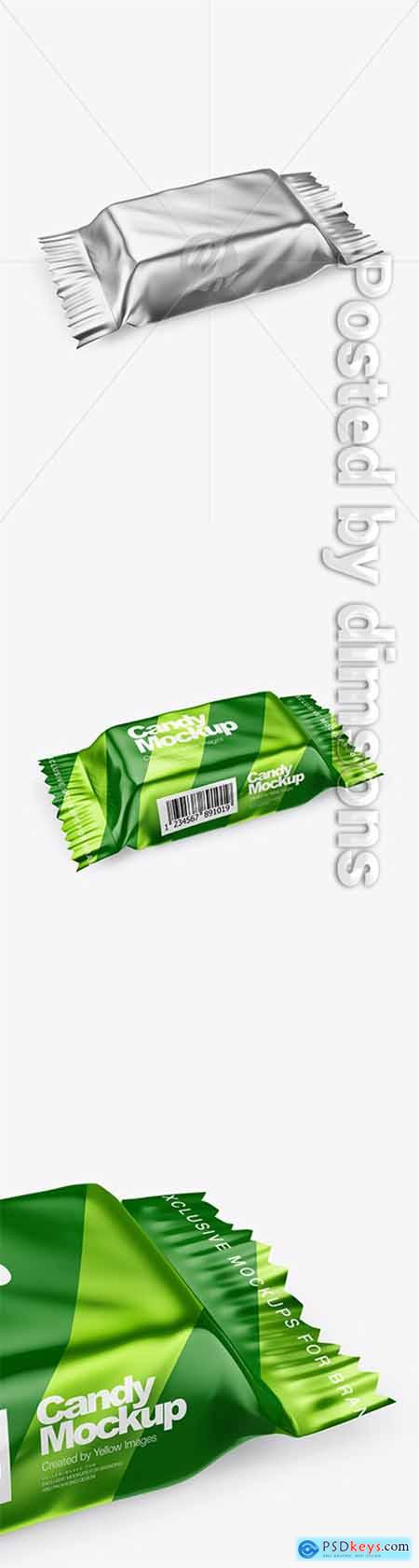 Metallic Candy Package Mockup - Half Side View 30122