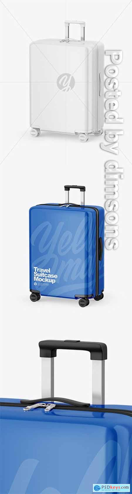 Glossy Travel Suitcase Mockup 65014