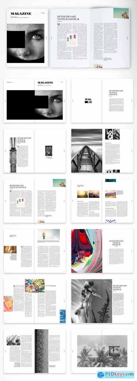 Creative and Clean Magazine Layout 375642072