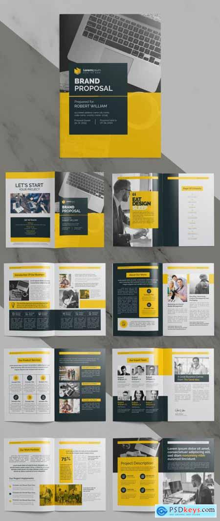 Brand Proposal Business Brochure with Clean Layout 375655344