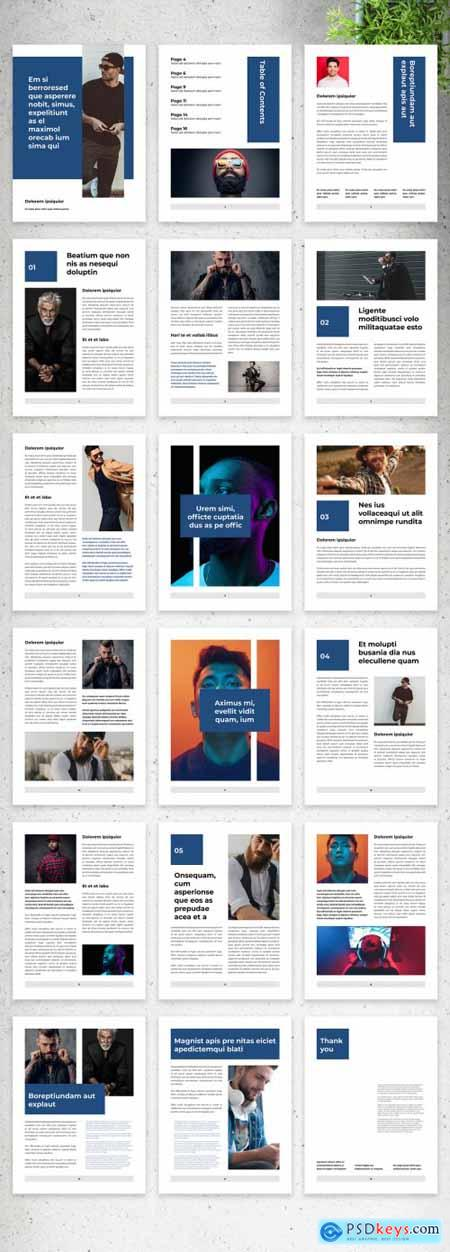 Clean Ebook Layout with Blue Accents 375642153