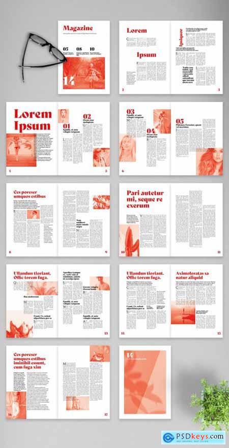 Modern Bicolor Magazine Layout 375642324