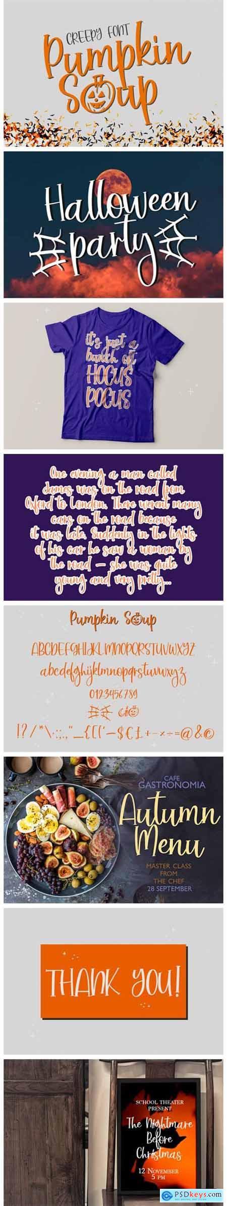 Pumpkin Soup Font