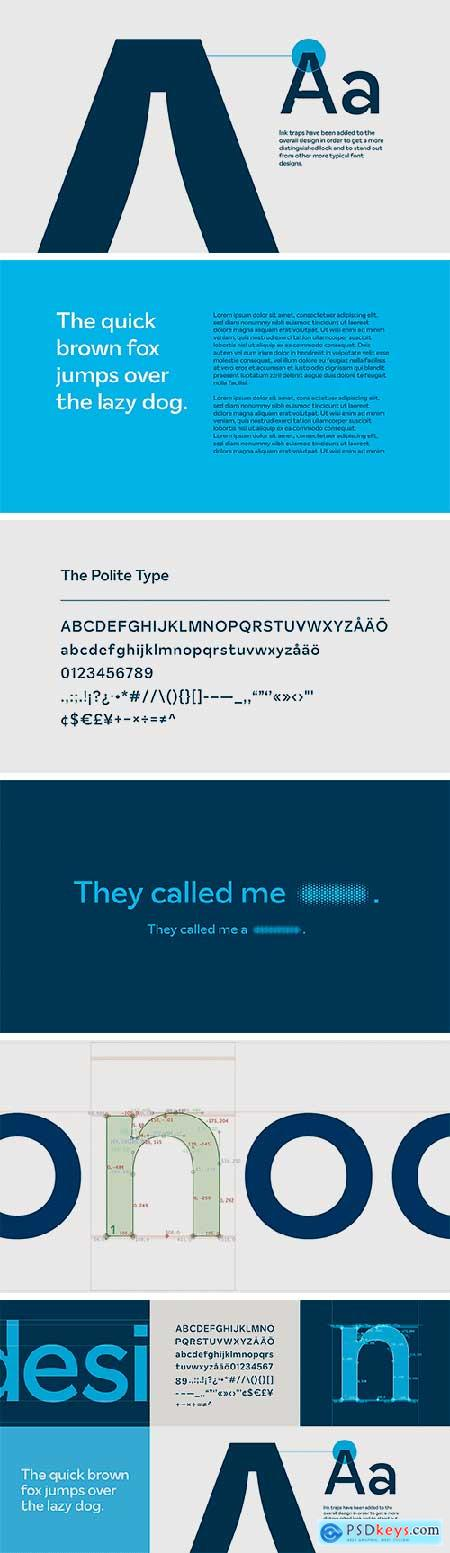 The Polite Type Font