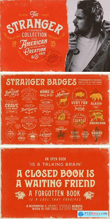 Stranger Font Collection + Extras 3754815
