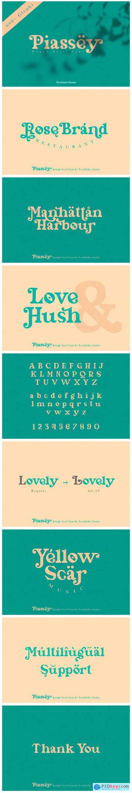 Piassey Font