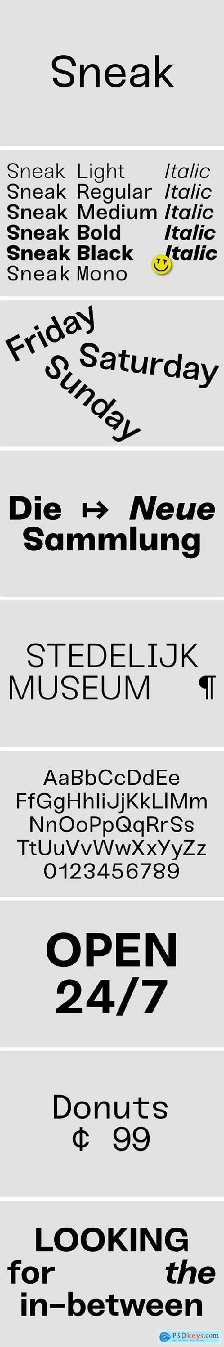 Sneak Font Family