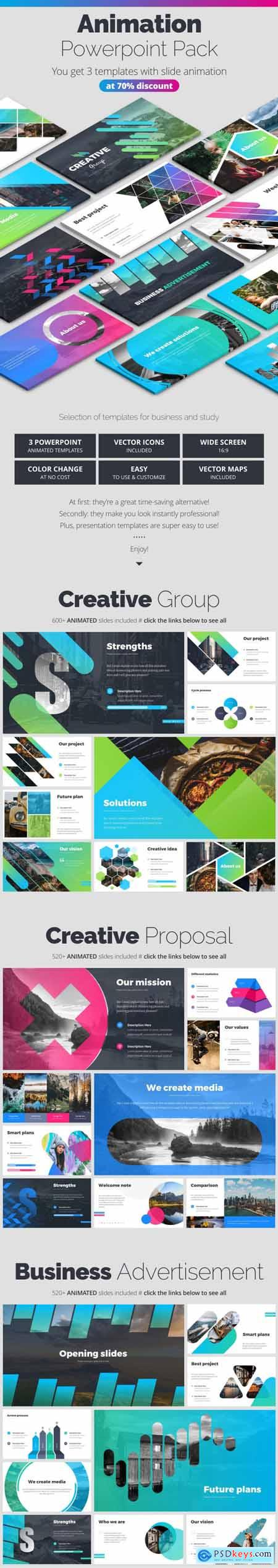 Powerpoint Creative Pitch Deck Bundle 27987557
