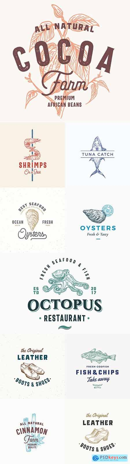 Vintage Brand name company logos business corporate design 50