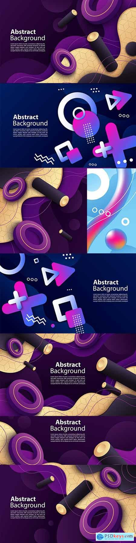 Abstract dynamic geometric decorative element background