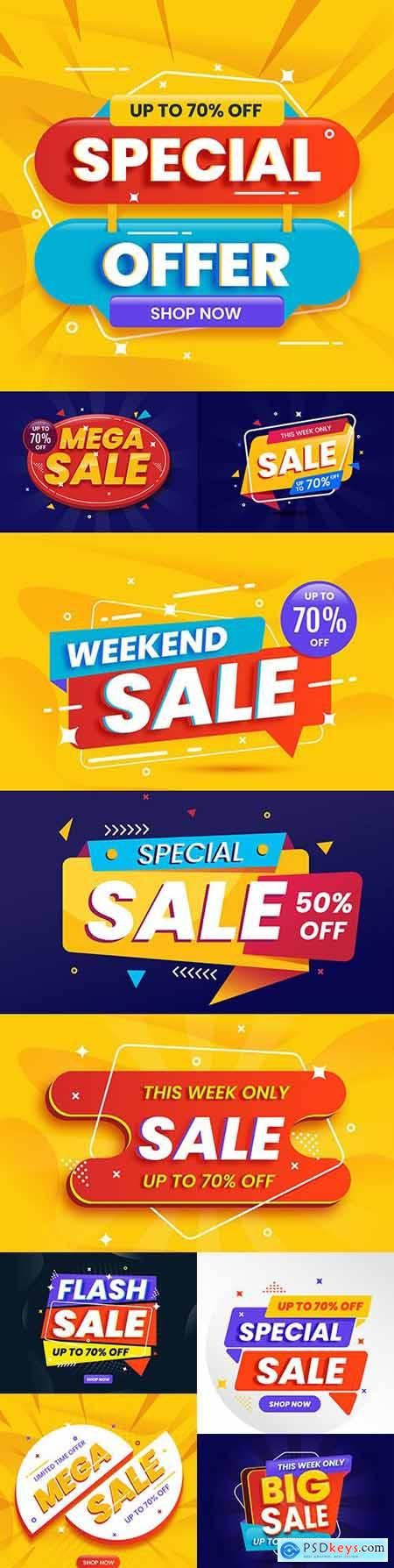 Sale and special offer banner template design