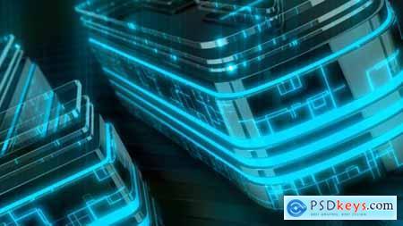 Neon Tech Dark Logo 28556308