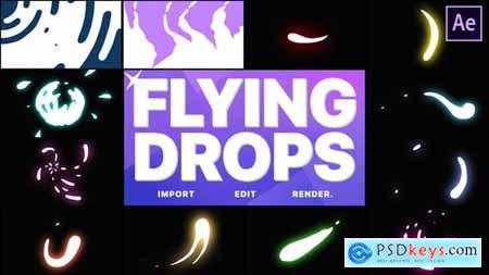 Flying Drops - After Effects 28538139