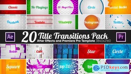 20 Title Transitions Pack 22119825