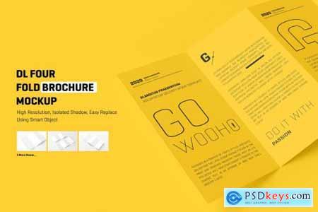 DL 4 Fold Brochure Mockup 5307332