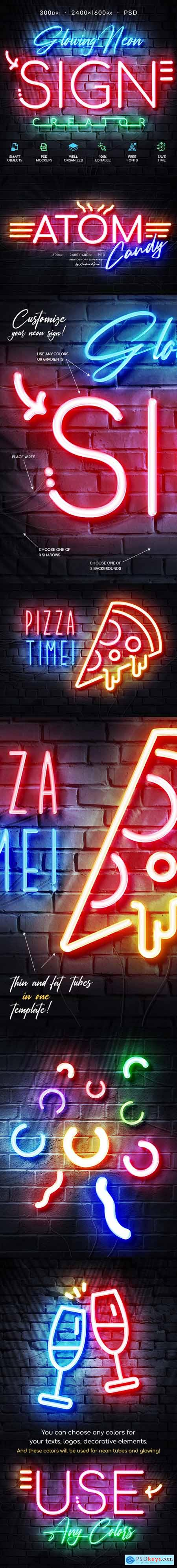 Glowing Neon Sign 28521582