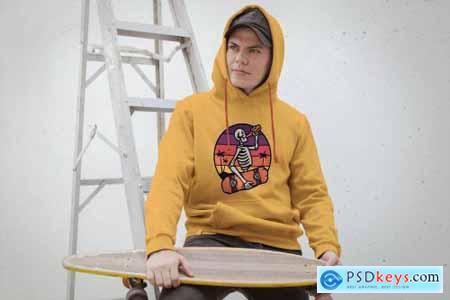 Placeit Skate Urban Hoodie Mockup