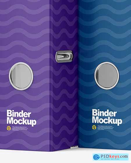 Two Binders Mockup 67098