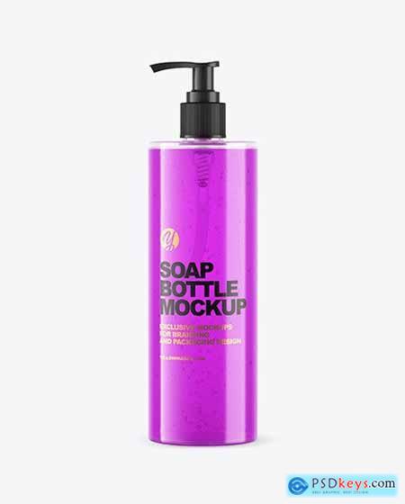 Soap Bottle with Pump Mockup 67078