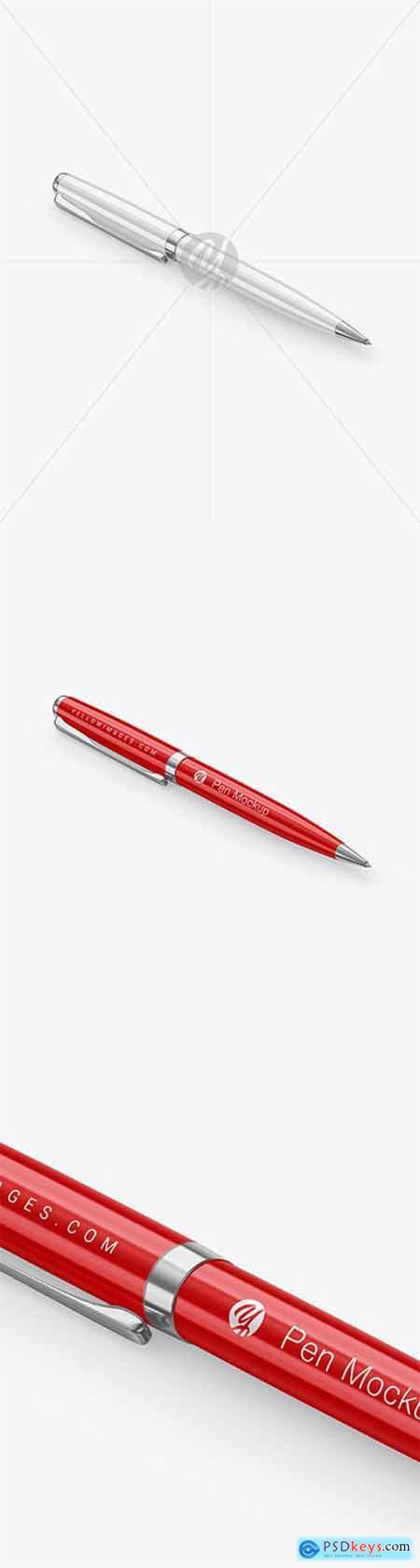 Glossy Pen w- Metallic Finish Mockup 65922