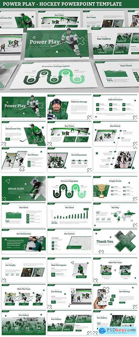 Power Play - Hockey Powerpoint Template