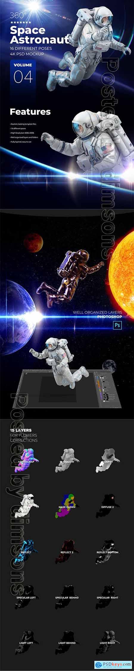 3D Mockup Space Astronaut #04 66436