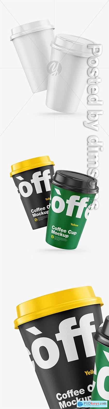Paper Coffee Cups Mockup 66137