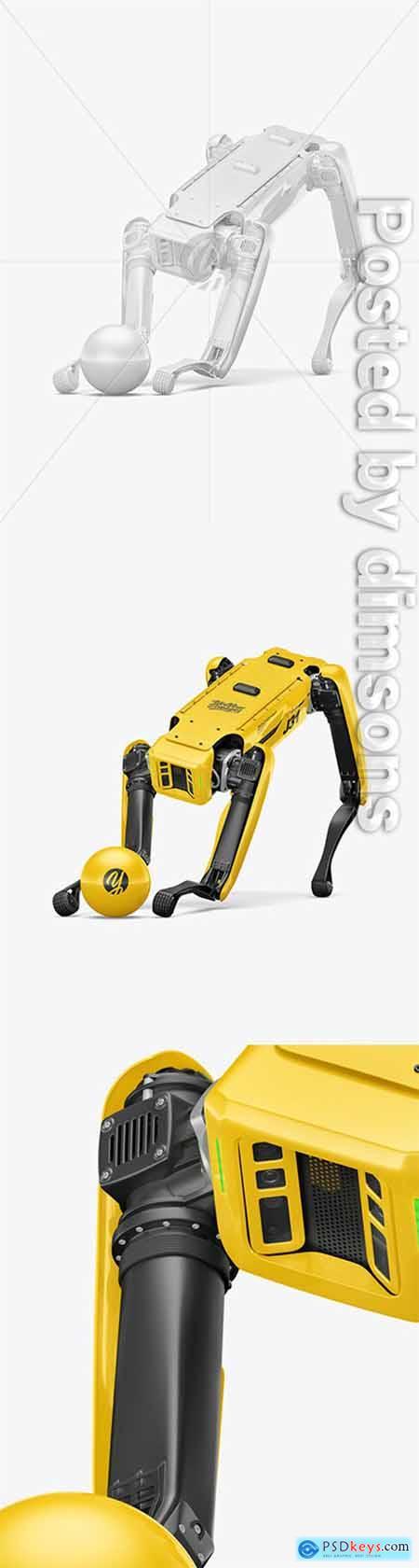 Four-Legged Robot with Ball Mockup 66320