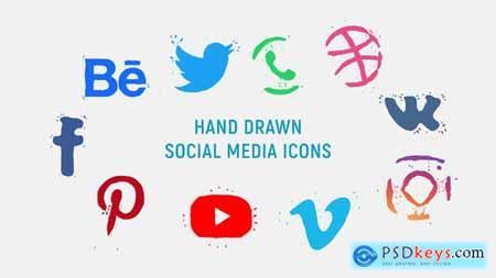Hand Drawn Social Media Icons 23272911