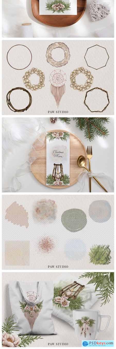 Christmas Boho Clipart Winter Holidays 5515553