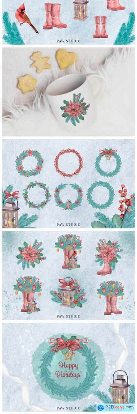 Christmas Clipart Wreath Winter Holiday 5105606