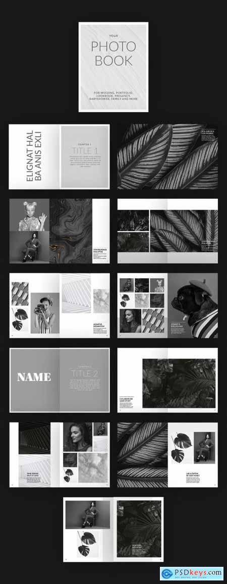 Photo Album Book Layout 377394323