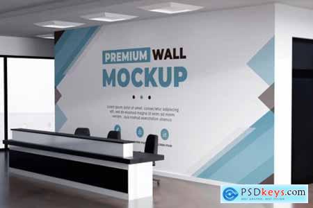 3d logo mockup realistic sign office