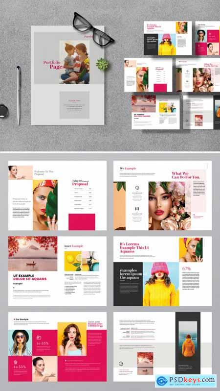 Portfolio Minimal Project Proposal with Red Accents 377364409