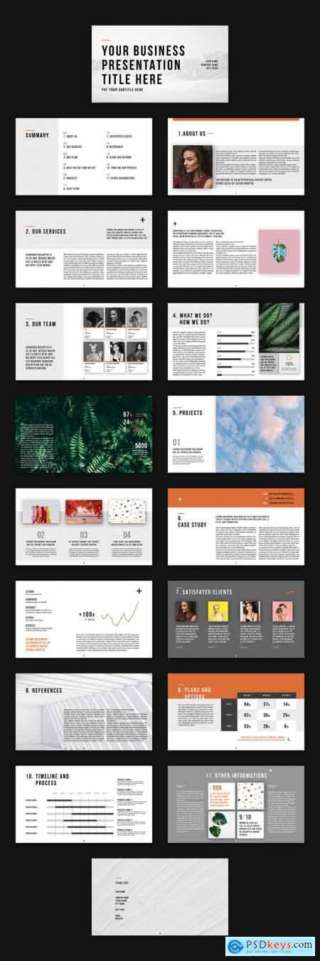Presentation Business Layout 377394560