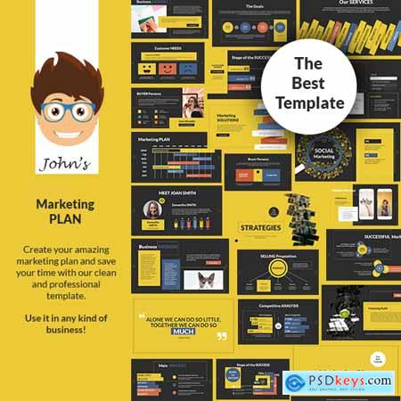 John's Marketing Plan PowerPoint Presentation Template 24799065