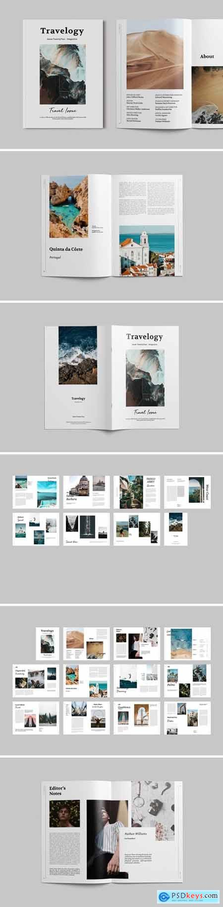 Travel Magazine Template T89MH66