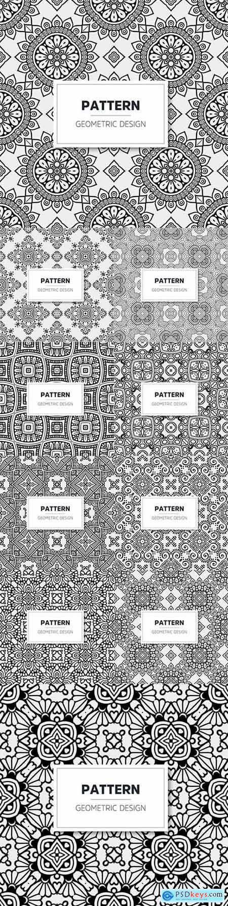 Luxurious mandala pattern geometric design